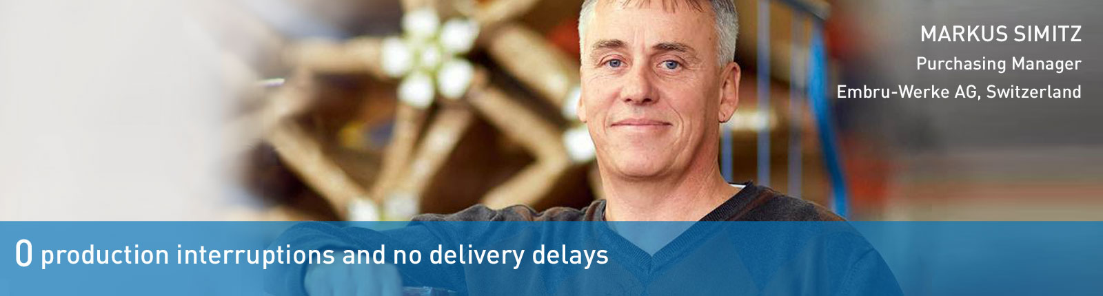 no delivery delays at Bossard